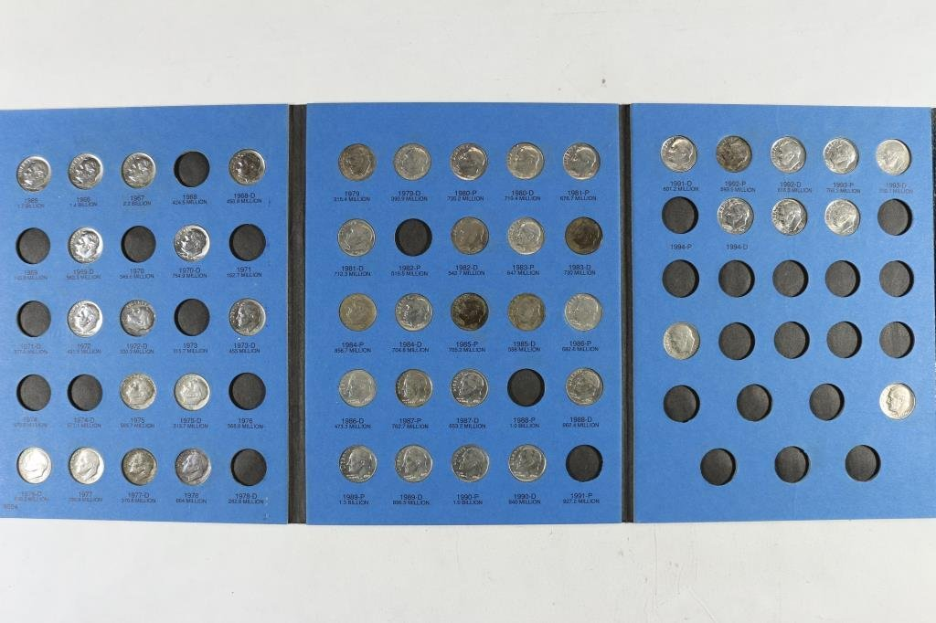 PARTIAL1965 UP ROOSEVELT DIME 47 COINS