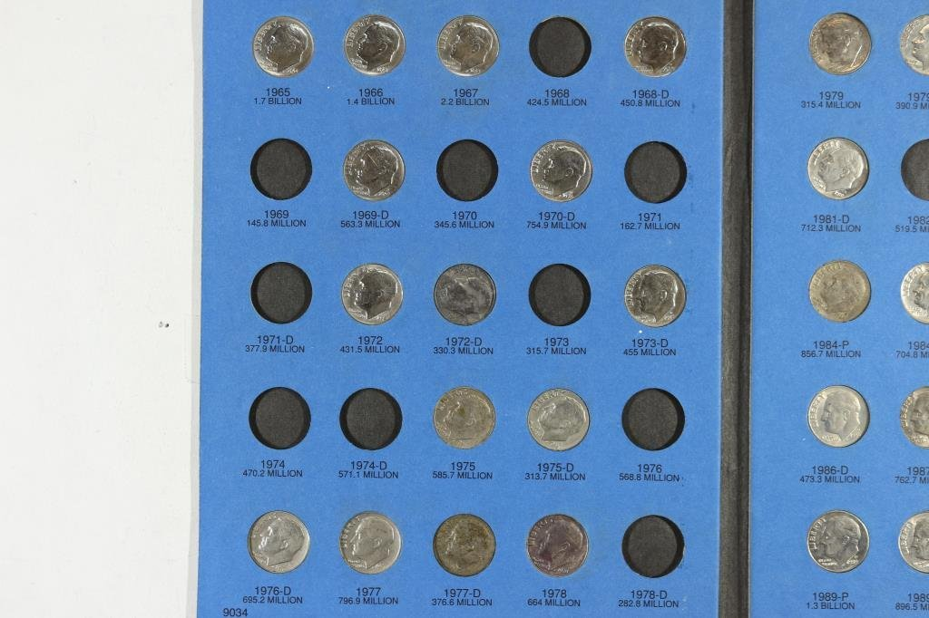 PARTIAL1965 UP ROOSEVELT DIME 47 COINS - 2