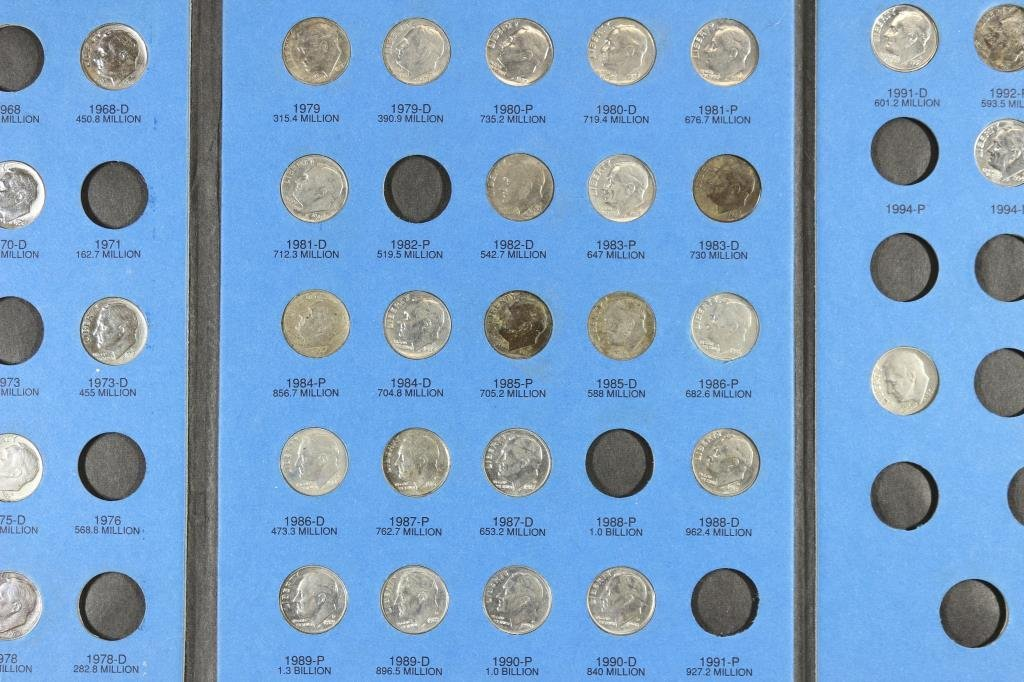 PARTIAL1965 UP ROOSEVELT DIME 47 COINS - 3