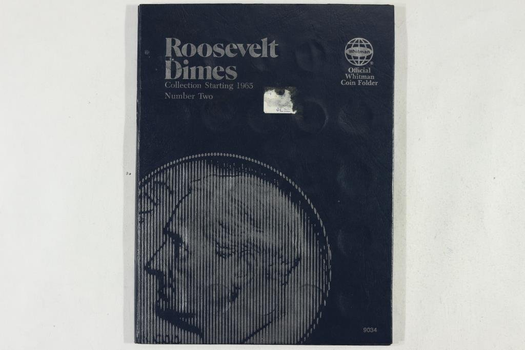 PARTIAL1965 UP ROOSEVELT DIME 47 COINS - 5