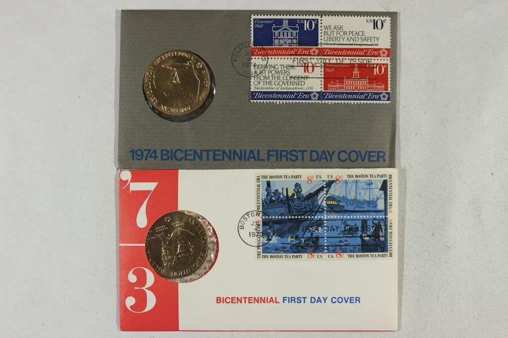 1973 & 1974 US MINT BICENTENNIAL 1ST DAY COVERS