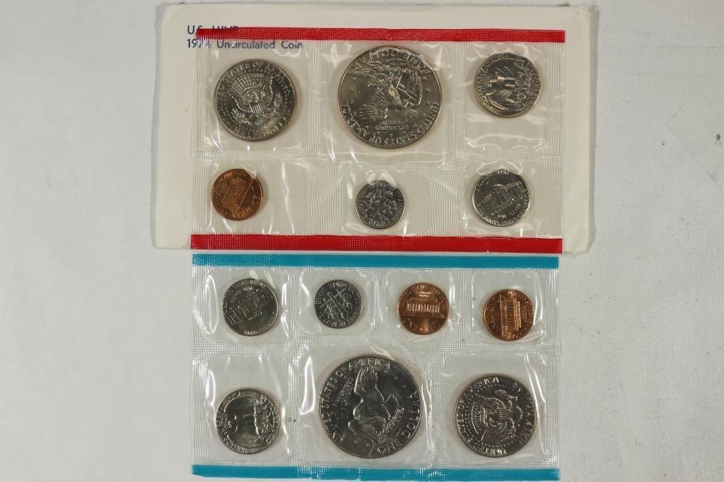 1974 US MINT SET (UNC) P/D/S (WITH ENVELOPE) - 2
