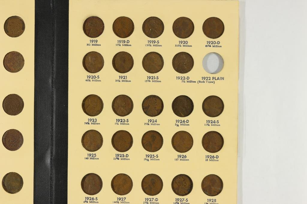 NEARLY COMPLETE 1909-1940 LINCOLN CENTS ALBUM - 2