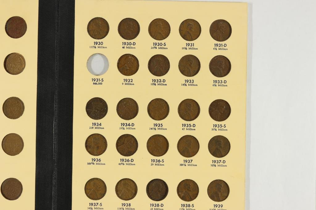 NEARLY COMPLETE 1909-1940 LINCOLN CENTS ALBUM - 3
