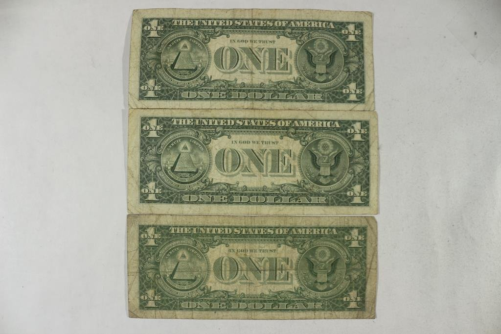 3-1963 JOSEPH W. BARR $1 FRN'S, STAR NOTES - 2