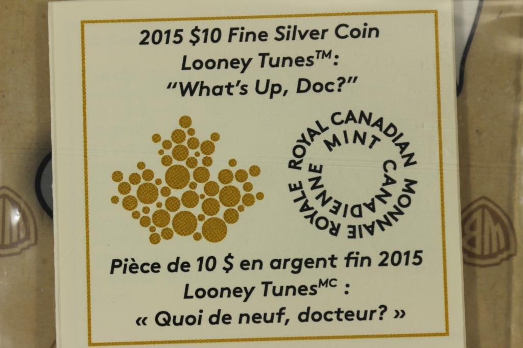 2015 CANADA $10 FINE SILVER COIN LOONEY TUNES - 3