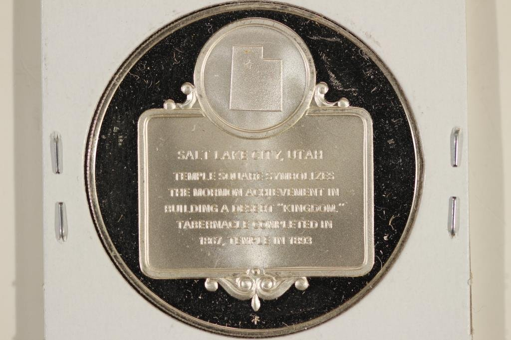 25.1 GRAM STERLING SILVER PROOF ROUND TEMPLE - 2