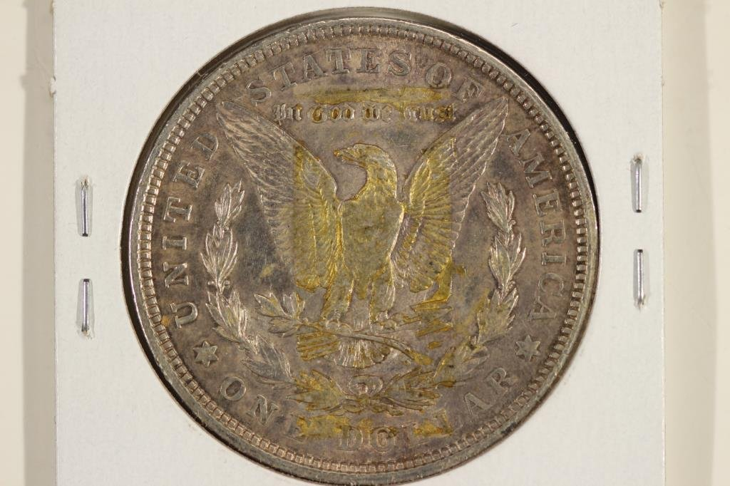 1921-D MORGAN SILVER DOLLAR WITH TAPE RESIDUE - 2