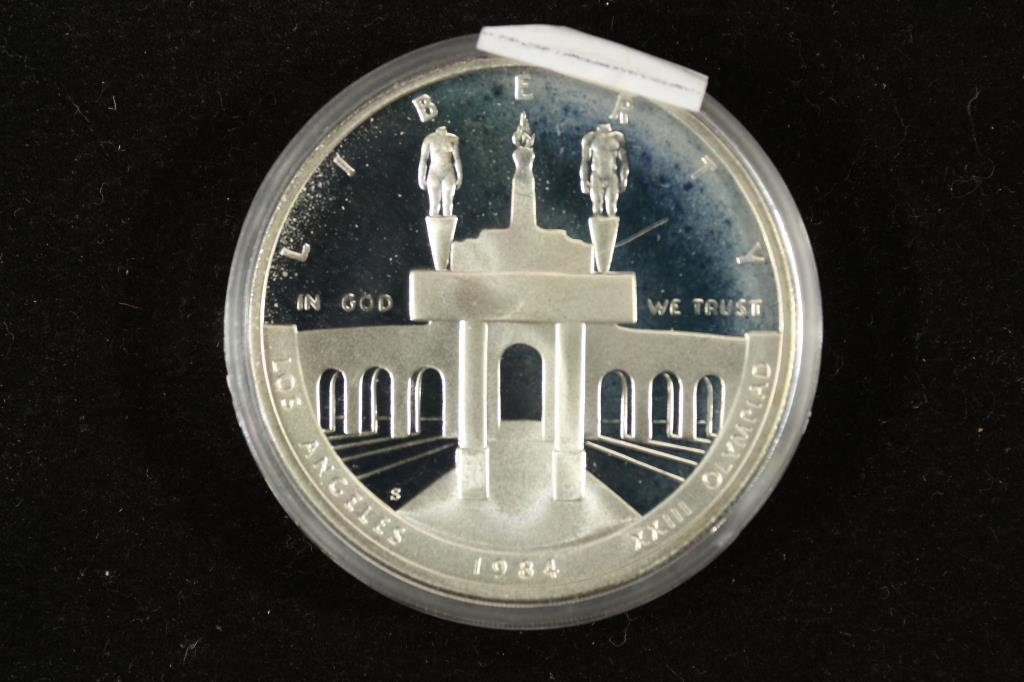 1984-S US OLYMPIC PROOF SILVER DOLLAR - 2