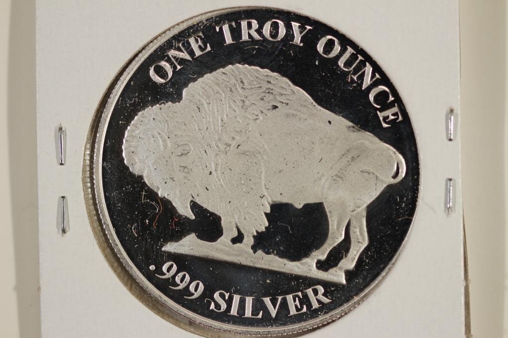 1 TROY OZ .999 FINE SILVER PROOF ROUND - 2