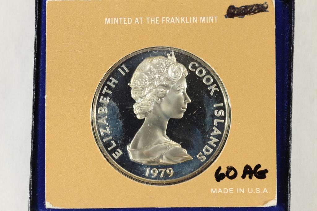 1979 COOK ISLANDS $5 STERLING PROOF - 2