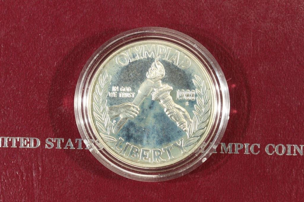 1988-S US OLYMPIC PROOF SILVER DOLLAR