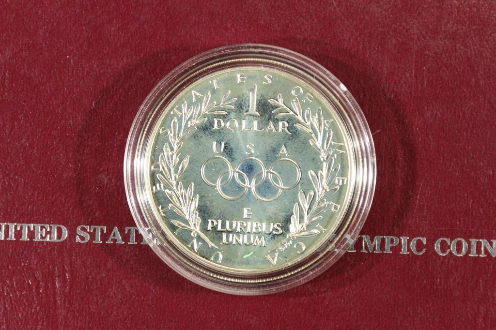 1988-S US OLYMPIC PROOF SILVER DOLLAR - 2