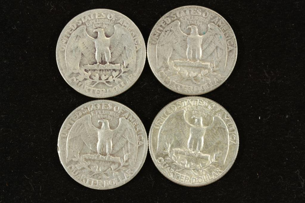1944,54,57-D & 63-D WASHINGTON SILVER QUARTERS - 2