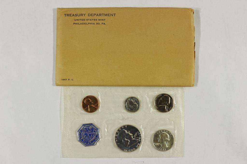 1957 US SILVER PROOF SET (WITH ENVELOPE)