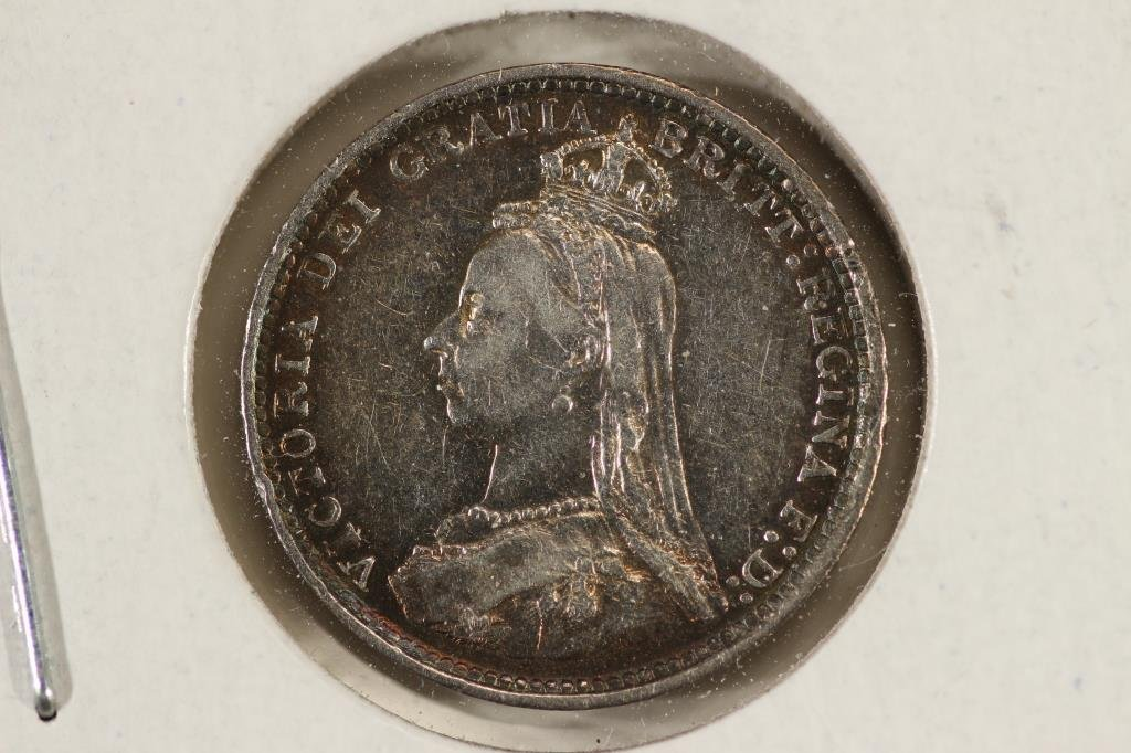 1887 GREAT BRITAIN SILVER 3 PENCE