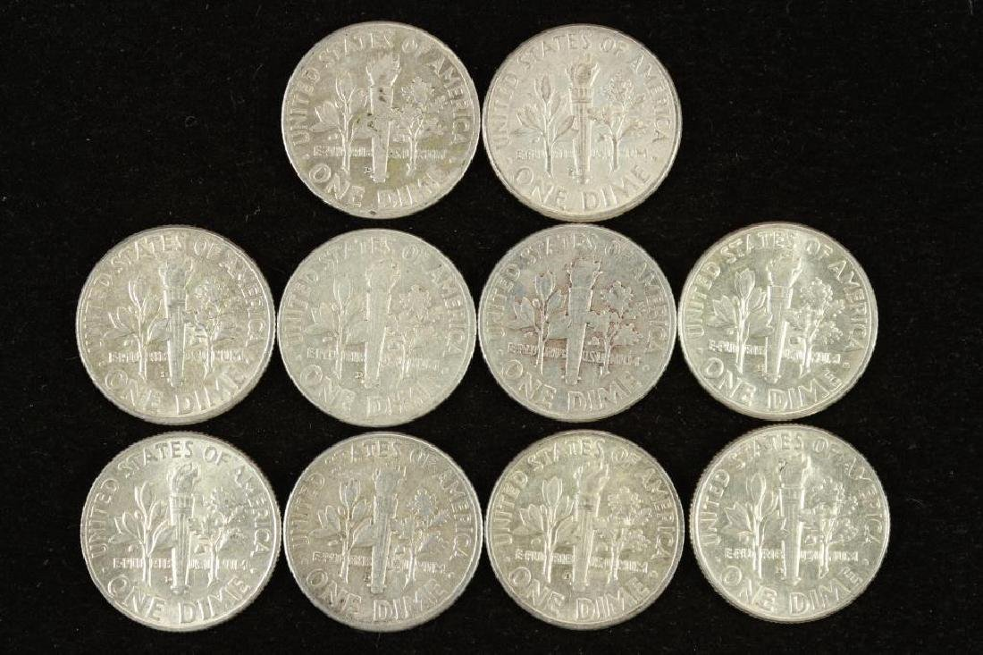 10 ASSORTED SILVER ROOSEVELT DIMES - 2