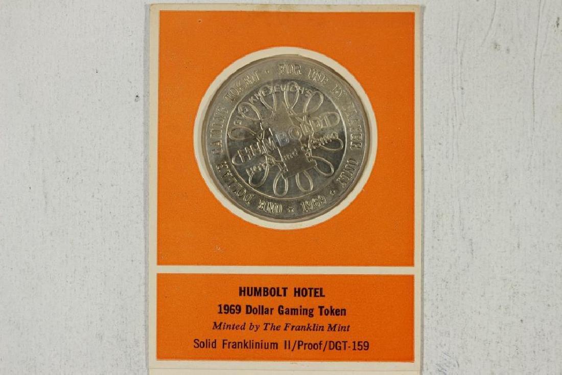 HUMBOLDT HOTEL 1969 $1 GAMING TOKEN PROOF