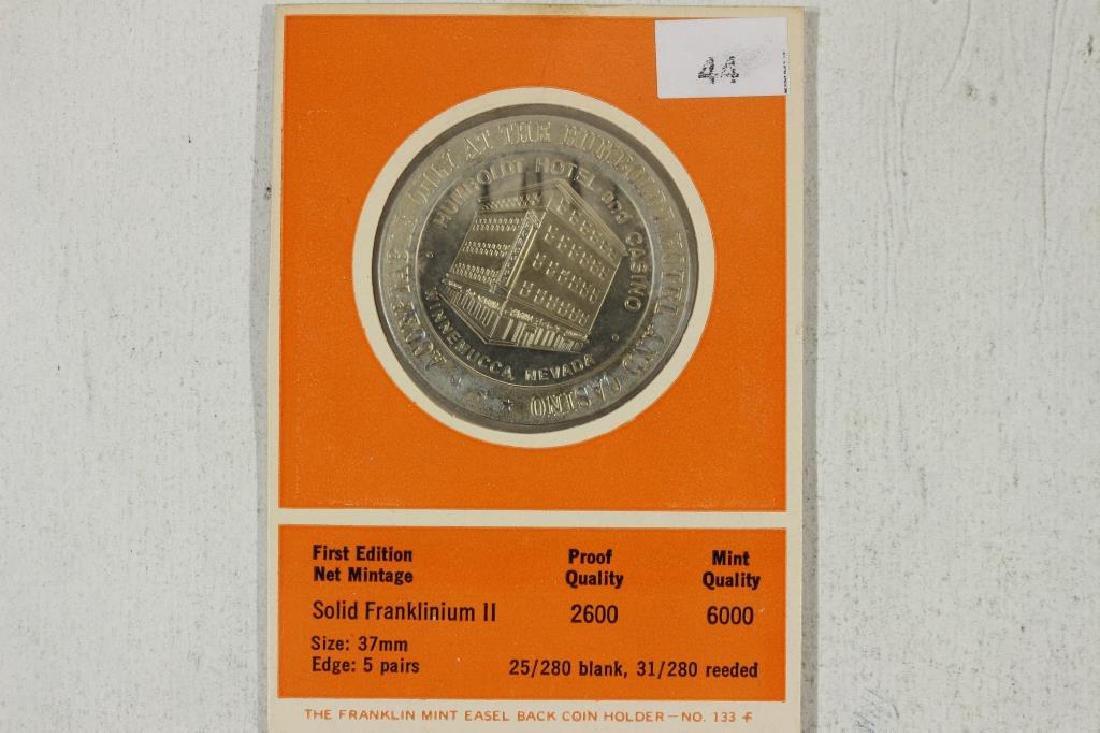 HUMBOLDT HOTEL 1969 $1 GAMING TOKEN PROOF - 2