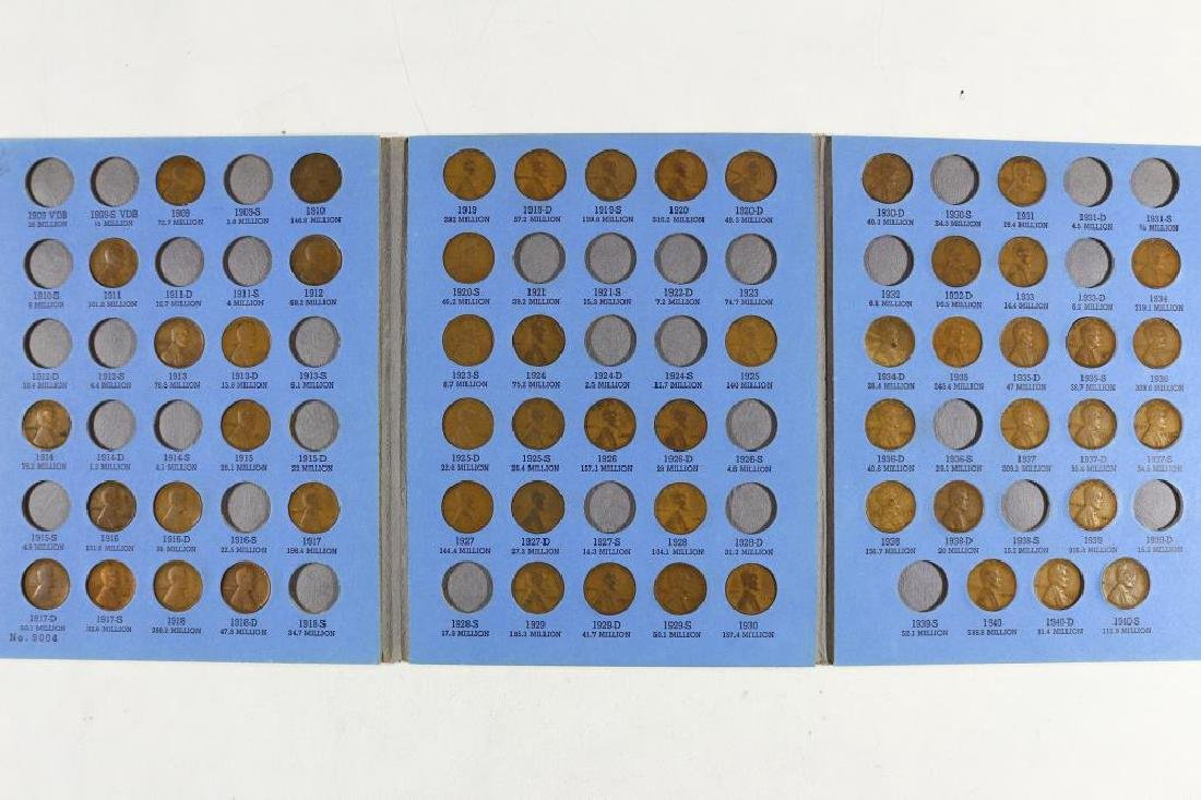 2 PARTIAL LINCOLN CENT SETS 1909-1940 HAS 55 COINS