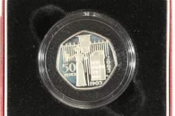 2003 UNITED KINGDOM SILVER PROOF 50 PENCE