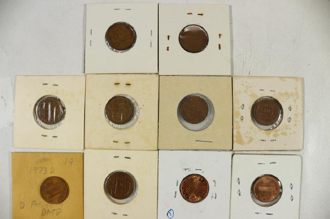 ERRORS 10 ASSORTED LINCOLN CENTS WITH ERRORS - 2