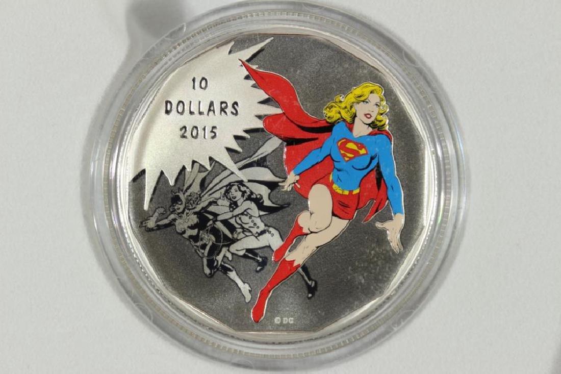 2015 CANADA $10 FINE SILVER COIN D.C. COMICS