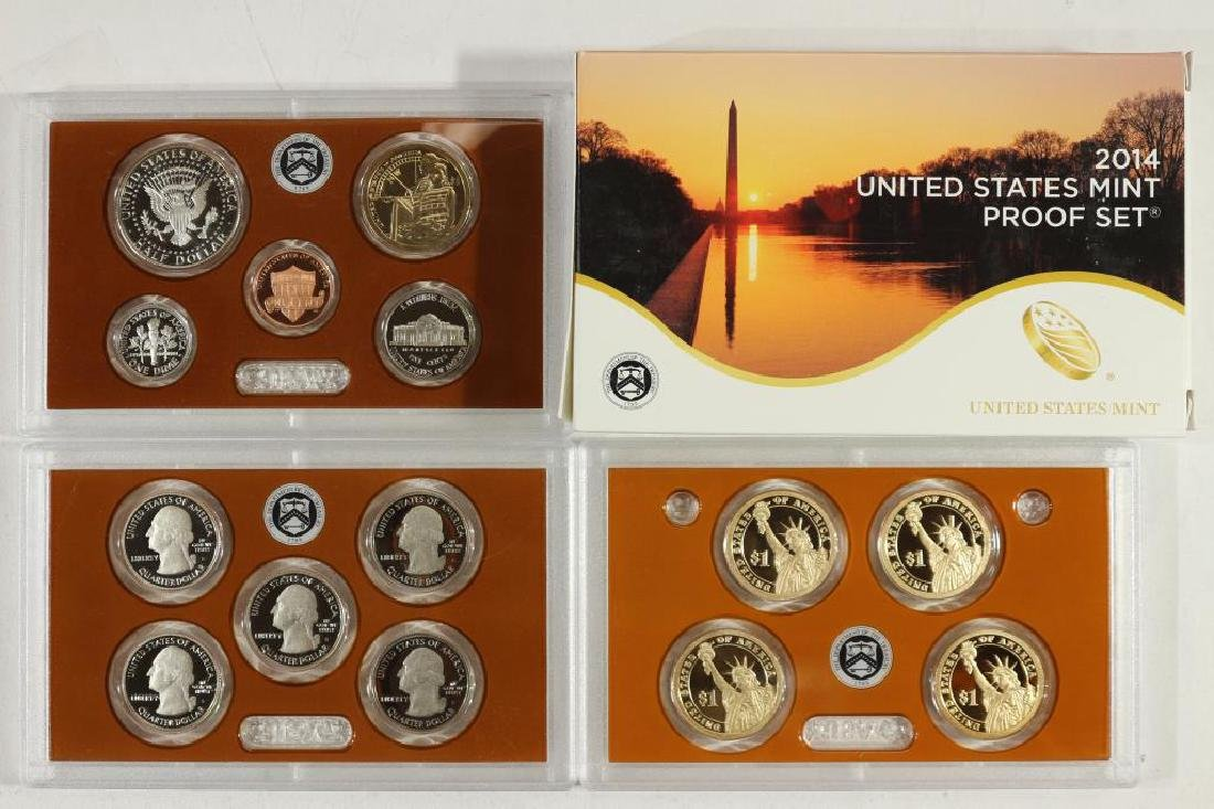 2014 US PROOF SET (WITH BOX) 14 PIECES - 2