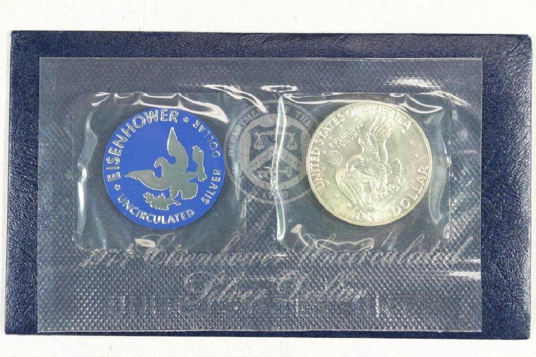 1974-S  IKE SILVER DOLLAR UNCIRCULATED (BLUE PACK) - 2