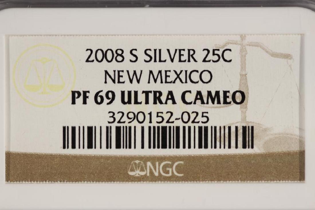 2008-S SILVER NEW MEXICO QUARTER NGC PF69 ULTRACAM - 3