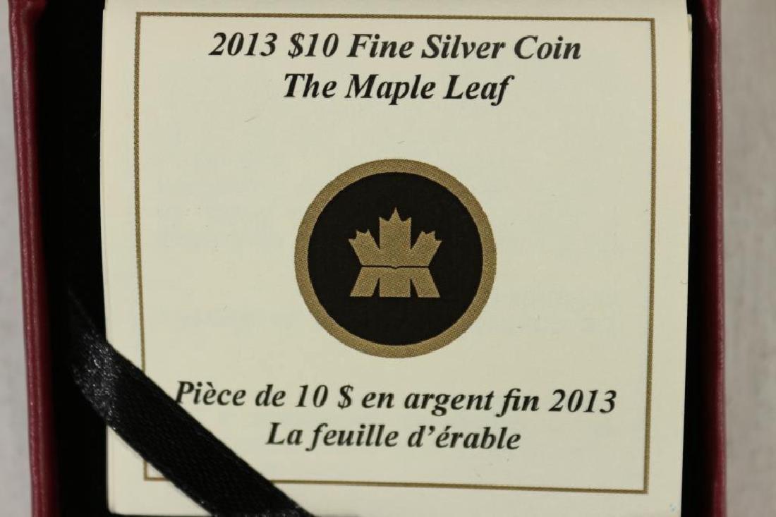 2013 CANADA $10 FINE SILVER MAPLE LEAF COLORIZED - 3