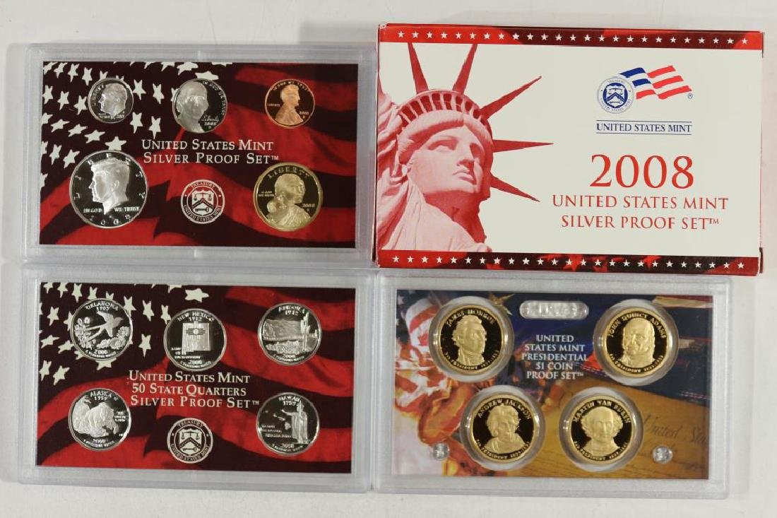 2008 US SILVER PROOF SET (WITH BOX) 14 PIECES