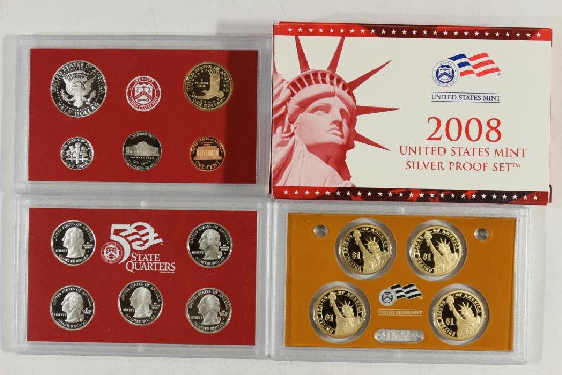 2008 US SILVER PROOF SET (WITH BOX) 14 PIECES - 2