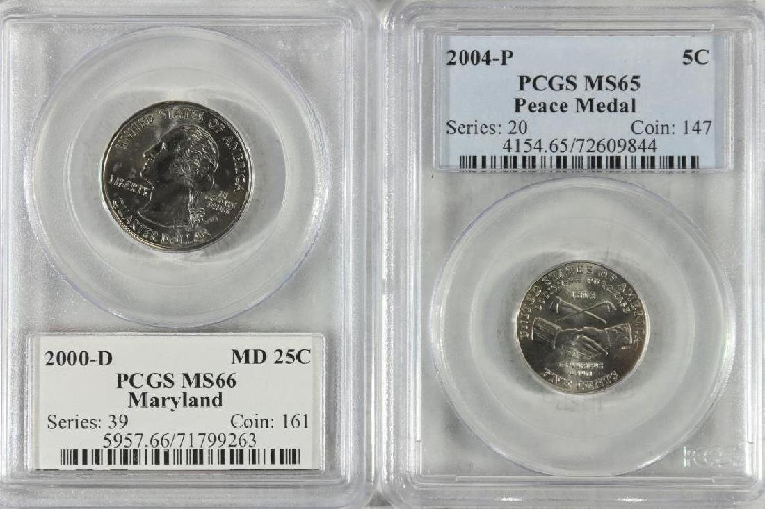 2 PCGS SLABBED COINS SEE DESCRIPTION