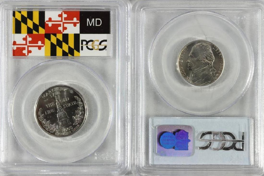 2 PCGS SLABBED COINS SEE DESCRIPTION - 2