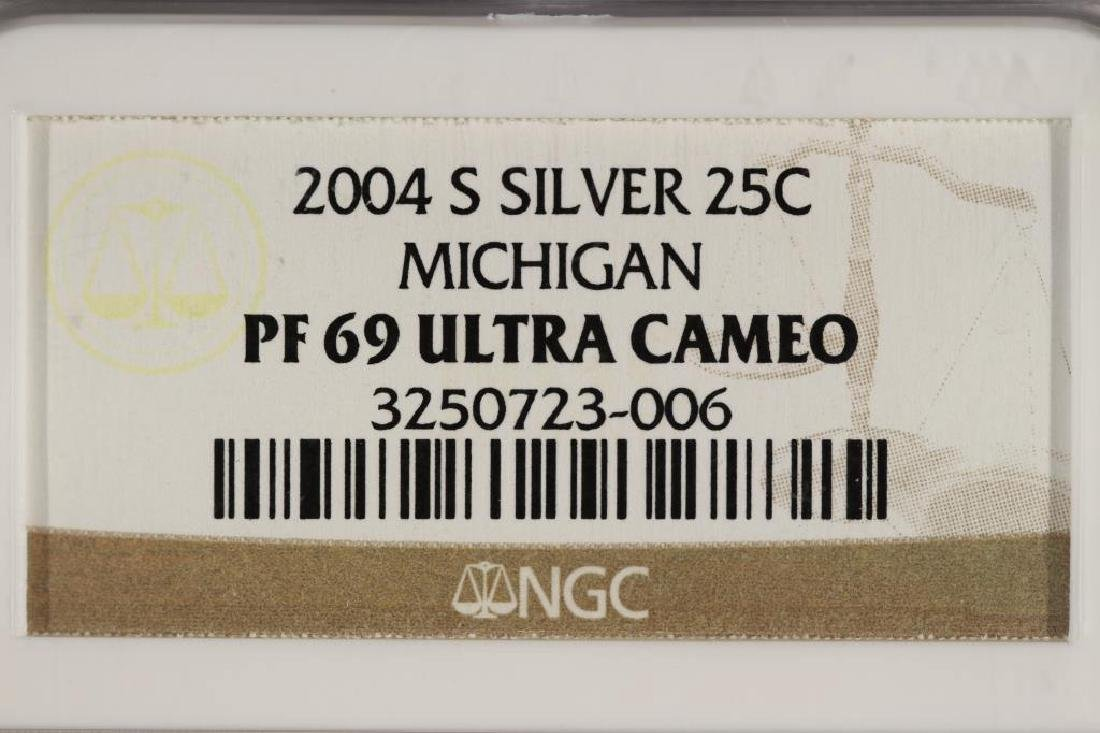 2004-S SILVER MICHIGAN QUARTER NGC PF69 ULTRA CAM - 3