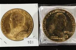2 US MINT AMERICAS FIRTS MEDALS 1972 GEORGE