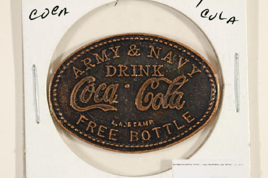 COCA-COLA ARMY AND NAVY FREE BOTTLE TOKEN