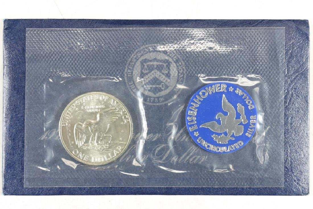 1972-S  IKE SILVER DOLLAR UNCIRCULATED (BLUE PACK) - 2