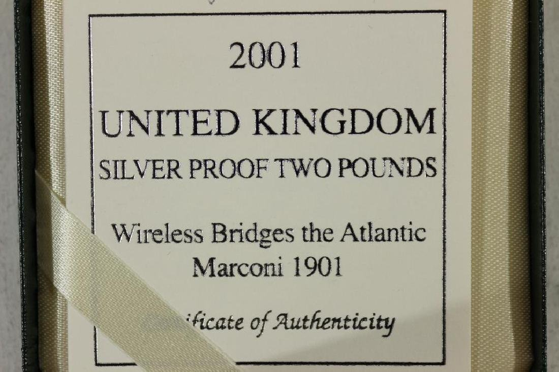 2001 UNITED KINGDOM SILVER PROOF 2 POUNDS - 3