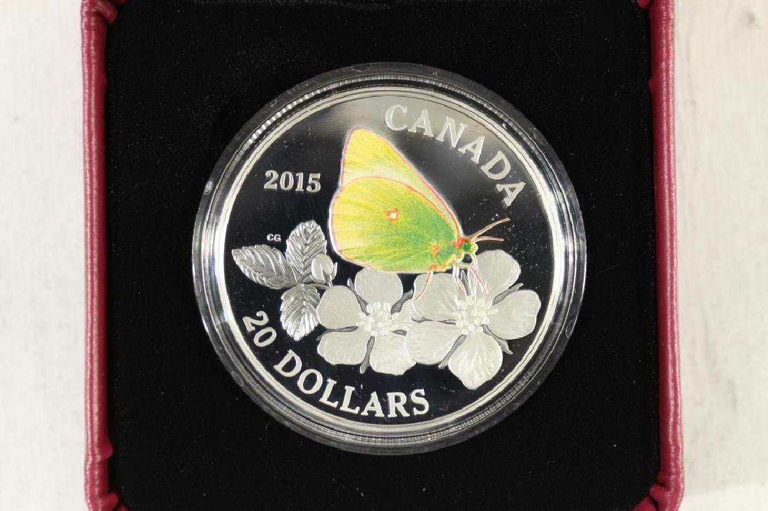 2015 CANADA $20 FINE SILVER COIN BUTTERFLIES OF