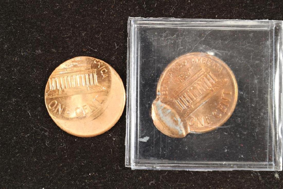 ERRORS 2-2000 LINCOLN CENT OFF CENTER STRIKES - 2