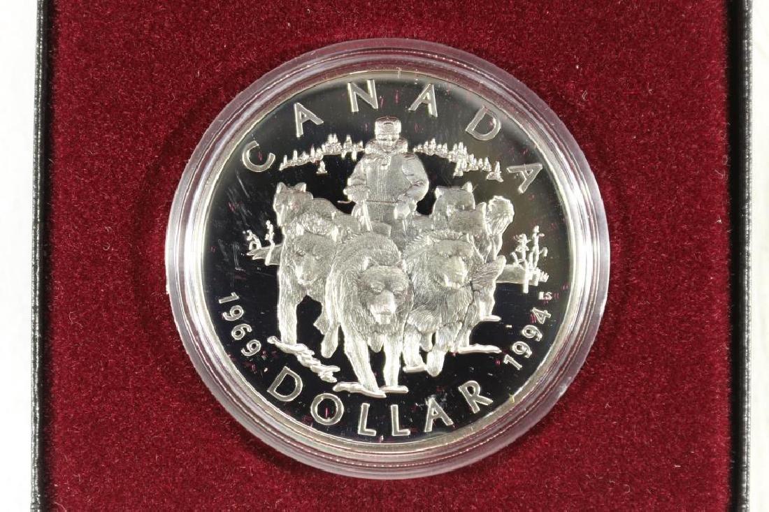 1994 CANADA SLED DOG SILVER DOLLAR PROOF