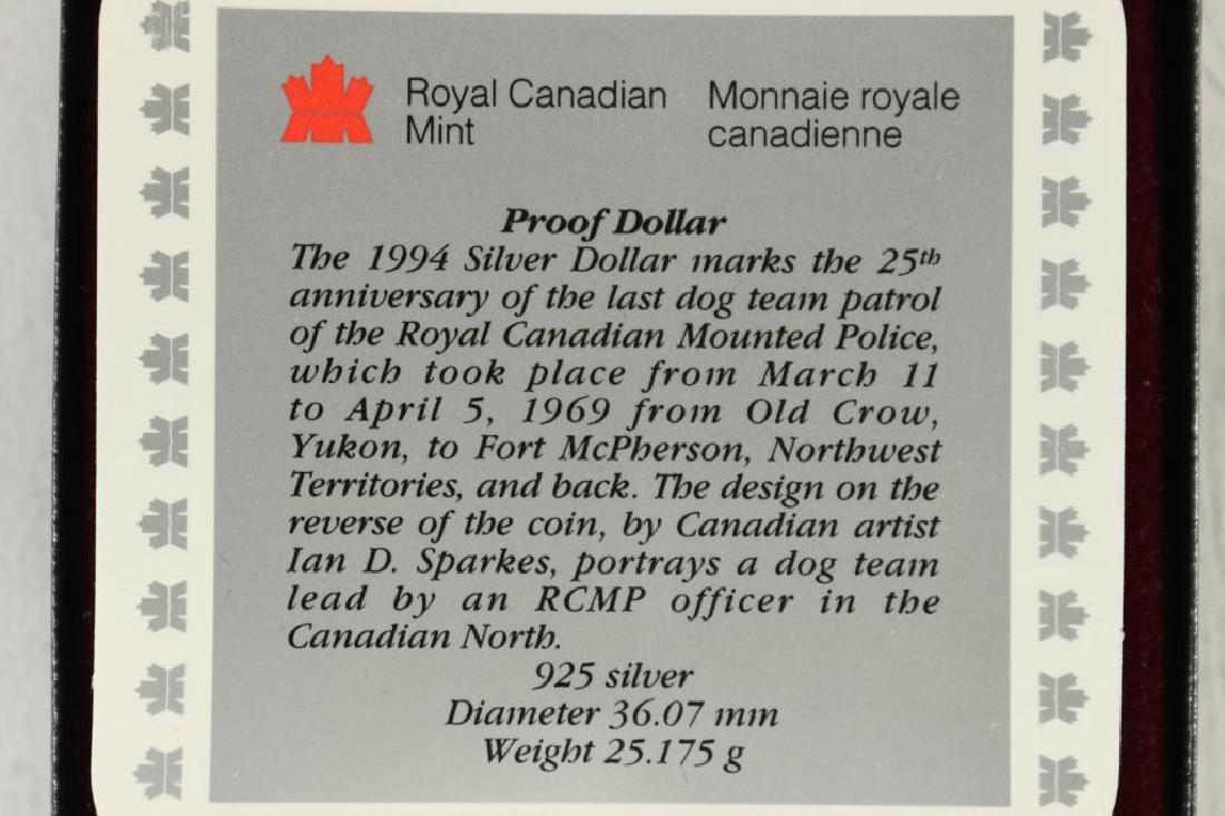1994 CANADA SLED DOG SILVER DOLLAR PROOF - 3