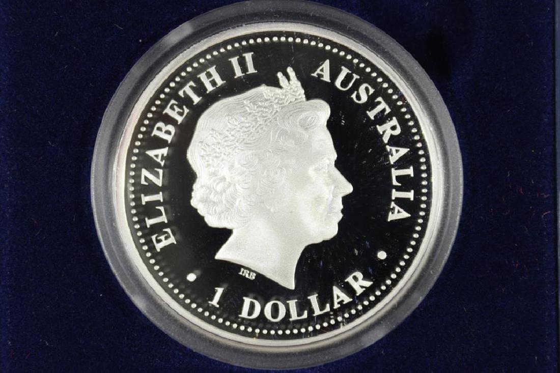 2009 AUSTRALIA SILVER DOLLAR SOUTH MAGNETIC POLE - 2