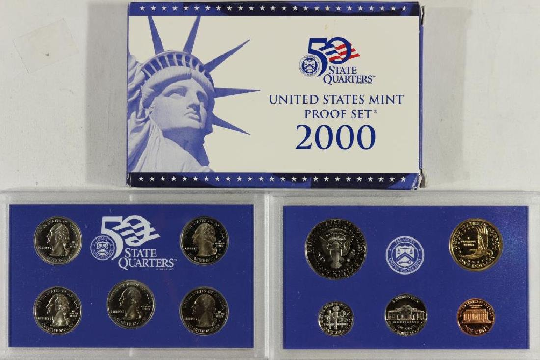 2000 US PROOF SET (WITH BOX) - 2
