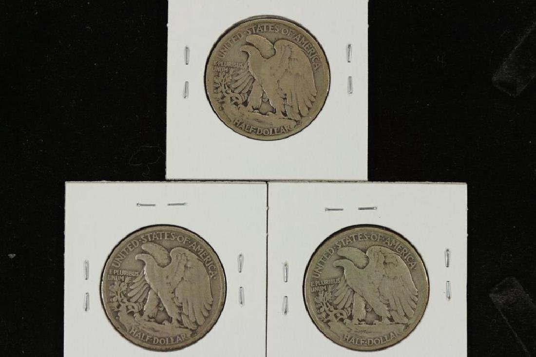 1928-S,37-D & 44 WALKING LIBERTY HALF DOLLARS - 2