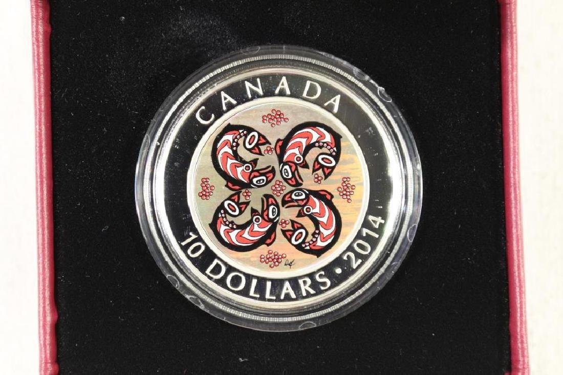 2014 CANADA $10 FINE SILVER COIN PROOF