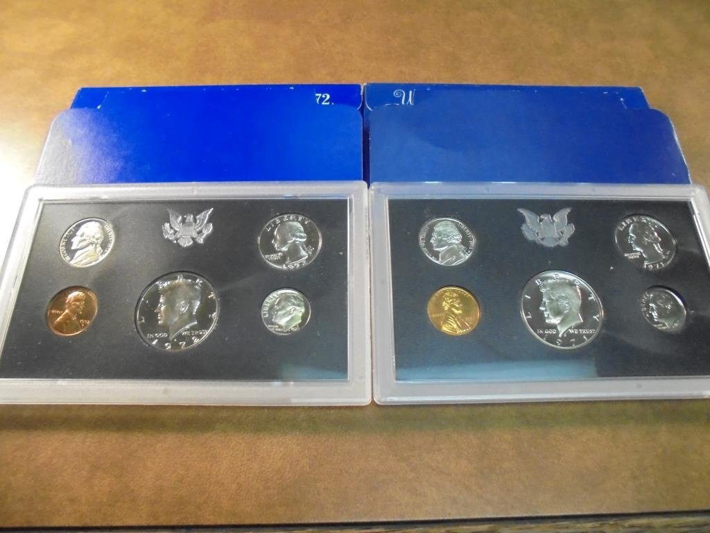1971 & 1972 US PROOF SETS (WITH BOXES)