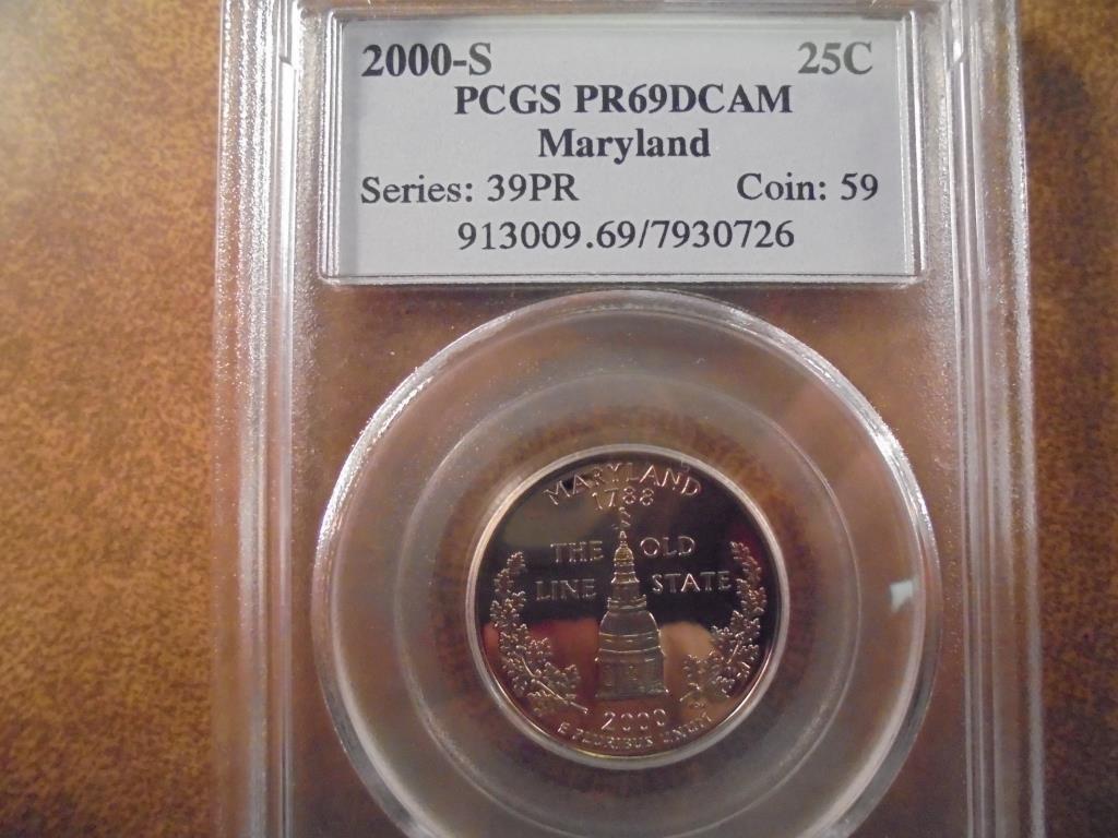 2000-S MARYLAND QUARTER PCGS PR69 DCAM